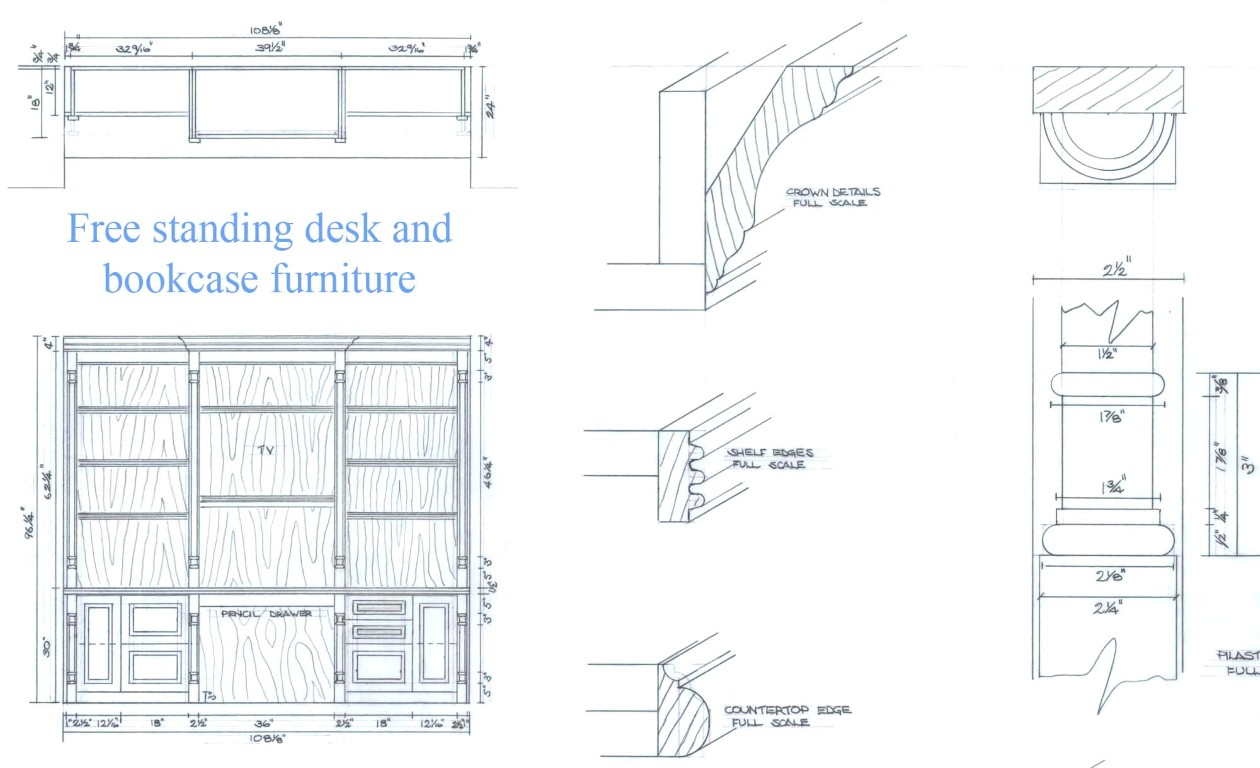 Built In Furniture Drawing Details My Remodeling Costs